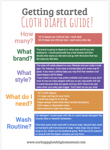 A free beginner's guide to cloth diapers
