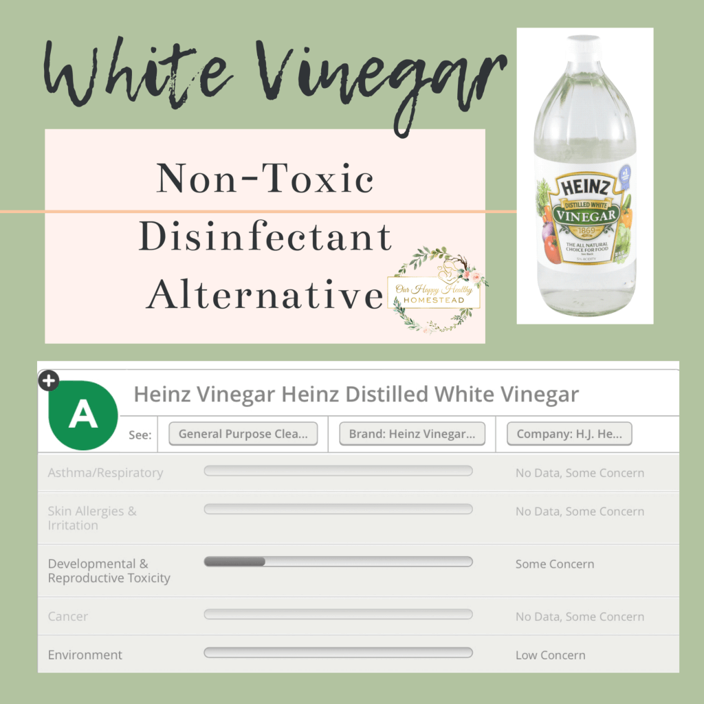Homemade non-toxic disinfectant cleaner